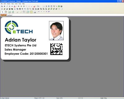 PESONA Card Design Software