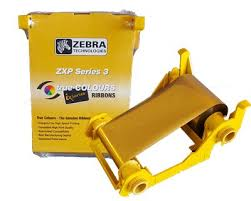 Zebra Monochrome Gold Ribbon ZXP3