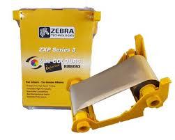 Zebra Mono Silver Ribbon ZXP3