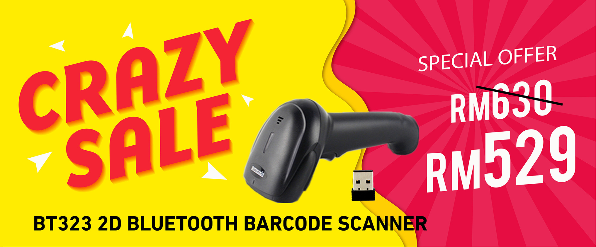 BT323 2D Bluetooth Barcode Scanner Crazy Sale